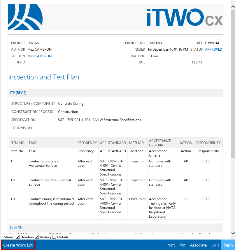 Creating a LOT - iTWOcx Knowledge base - iTWOcx