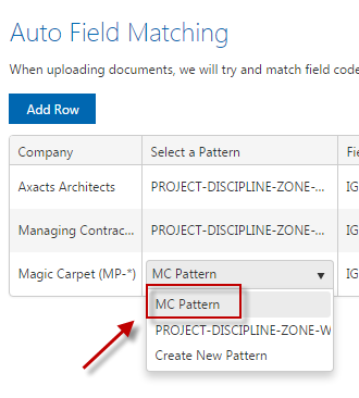 Automatic Field Matching - iTWOcx Knowledge base - iTWOcx